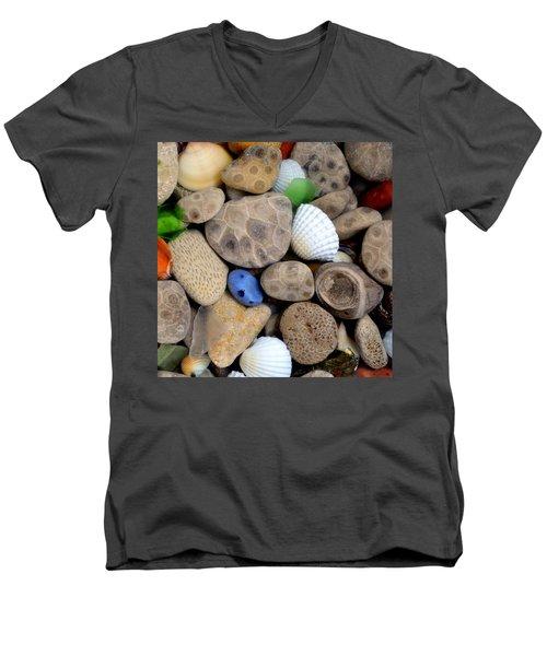Petoskey Stones V Men's V-Neck T-Shirt