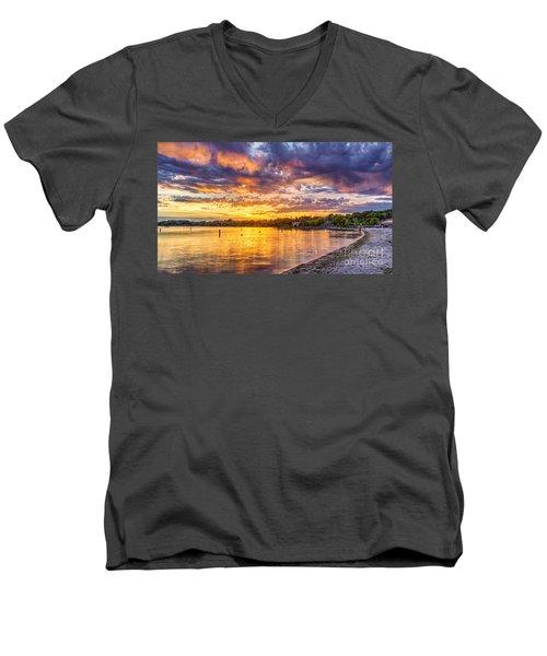 Pewaukee Orange Fury Men's V-Neck T-Shirt