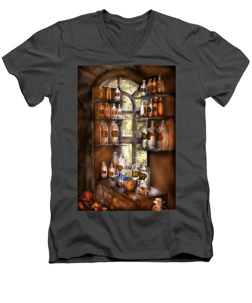Pharmacist - Various Potions Men's V-Neck T-Shirt by Mike Savad