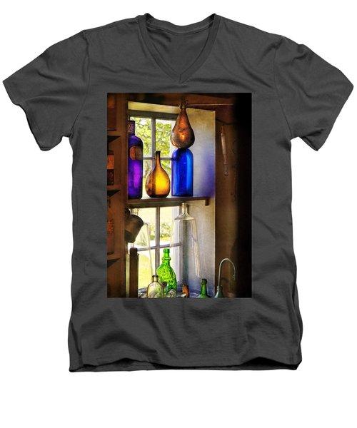 Pharmacy - Colorful Glassware  Men's V-Neck T-Shirt