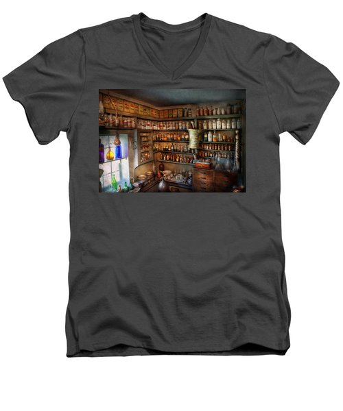 Pharmacy - Medicinal Chemistry Men's V-Neck T-Shirt by Mike Savad