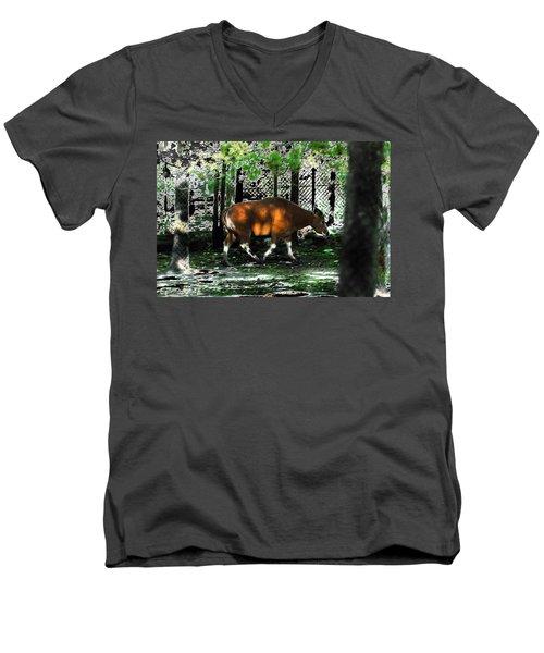 Phenomena Of Banteng Walk Men's V-Neck T-Shirt