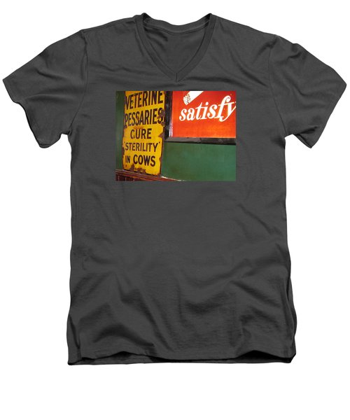 Phil Carrolls Men's V-Neck T-Shirt by Suzanne Oesterling
