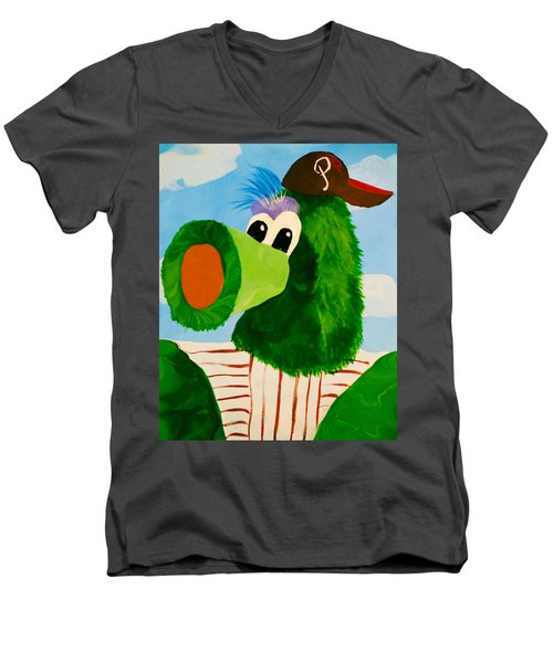 Philly Phanatic Men's V-Neck T-Shirt