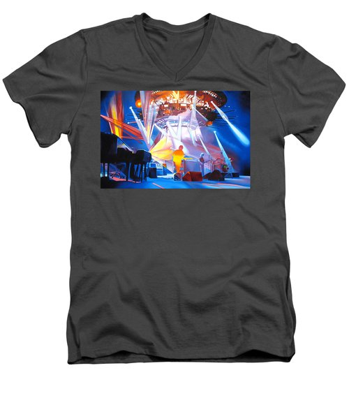Phish-in Deep Space Men's V-Neck T-Shirt by Joshua Morton