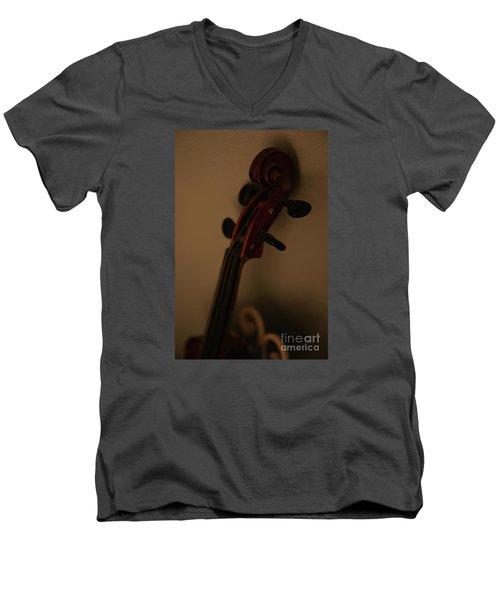 Phoebe Men's V-Neck T-Shirt by Linda Shafer