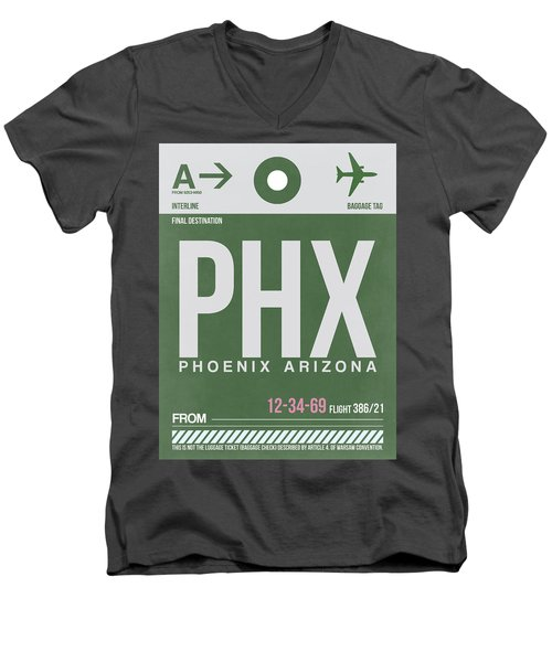 Phoenix Airport Poster 2 Men's V-Neck T-Shirt