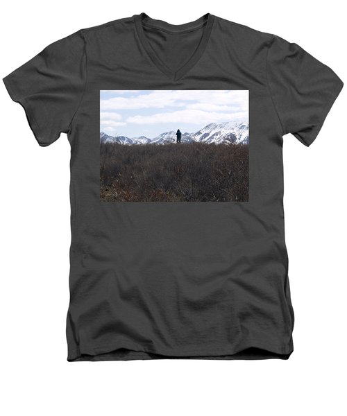 Photographing Nature   Men's V-Neck T-Shirt by Tara Lynn