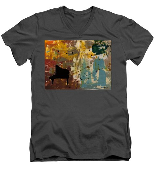 Piano Concerto Men's V-Neck T-Shirt