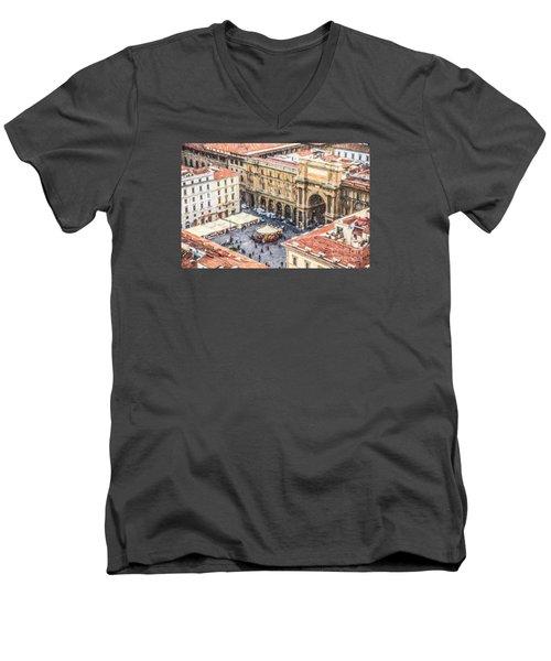 Piazza Della Repubblica Men's V-Neck T-Shirt