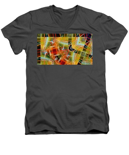 Pick Up Sticks In Geometry Men's V-Neck T-Shirt