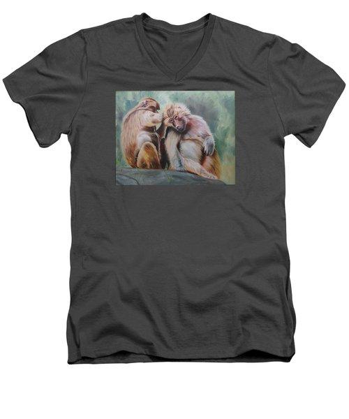 Pick Your Friends Carefully  Men's V-Neck T-Shirt
