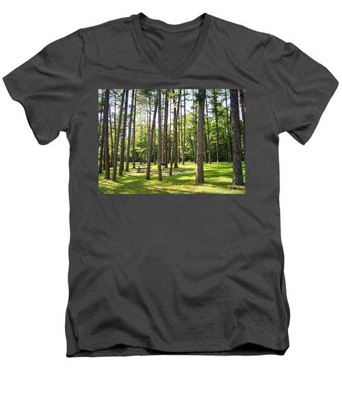 Picnic In The Pines Men's V-Neck T-Shirt