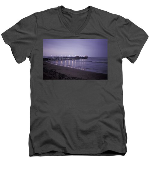 Pier At Dusk Men's V-Neck T-Shirt