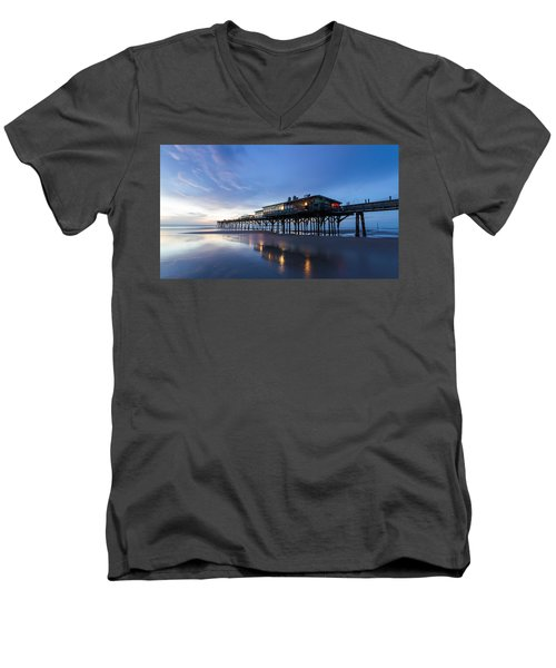 Pier At Twilight Men's V-Neck T-Shirt