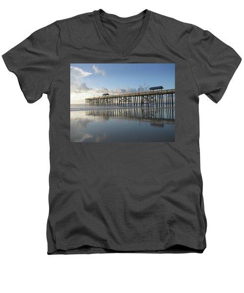 Pier Reflection Men's V-Neck T-Shirt