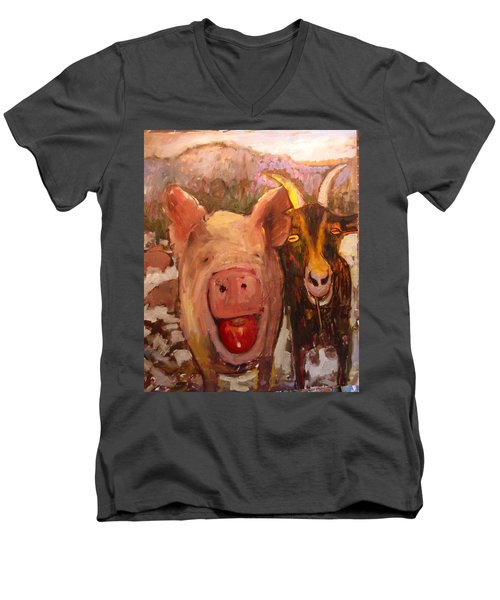 Pig And Goat Men's V-Neck T-Shirt