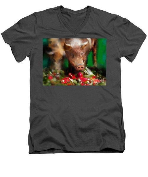 Pigs Men's V-Neck T-Shirt