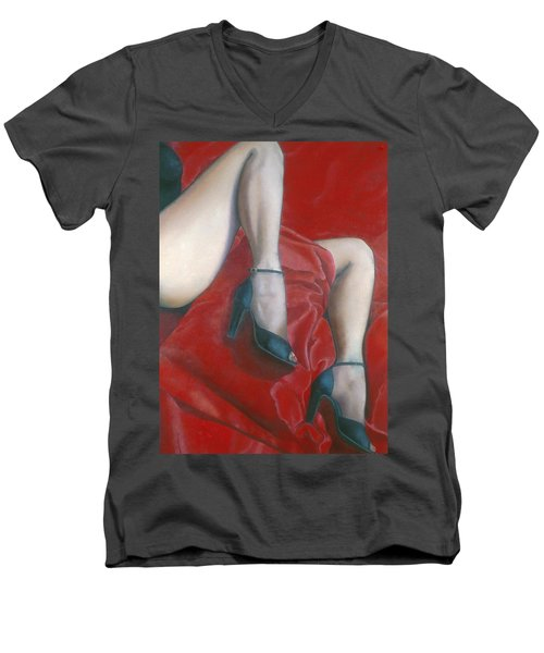 Pillow Men's V-Neck T-Shirt by Mary Ann  Leitch