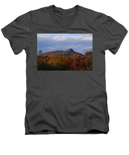 Pilot From Perch Road Men's V-Neck T-Shirt by Kathryn Meyer