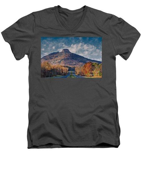 Pilot Mountain Men's V-Neck T-Shirt
