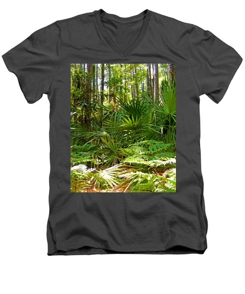 Pine And Palmetto Woods Filtered Men's V-Neck T-Shirt