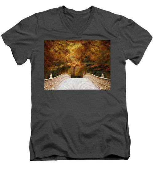 Pine Bank Autumn Men's V-Neck T-Shirt