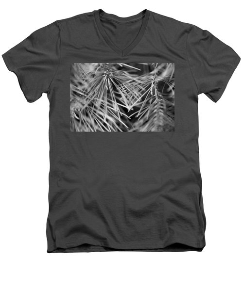 Pine Needle Abstract Men's V-Neck T-Shirt by Susan Stone