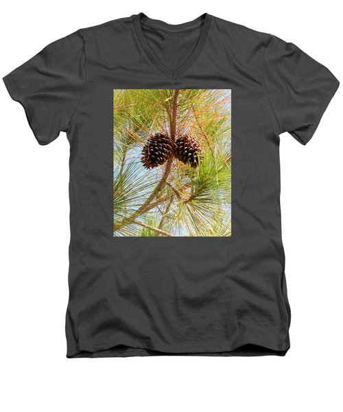 Pinecone's Men's V-Neck T-Shirt