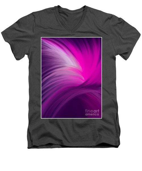 Pink And Purple Swirls Men's V-Neck T-Shirt