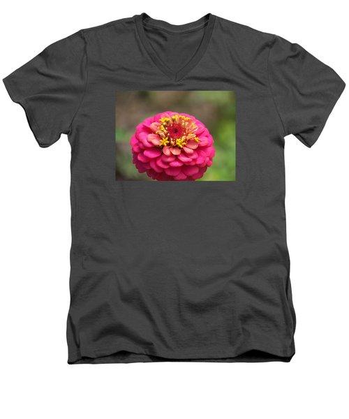 Pink Floral  Men's V-Neck T-Shirt