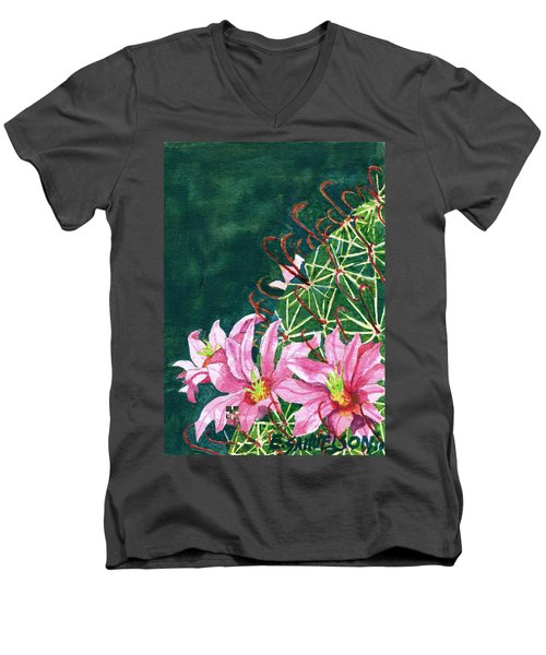 Pink Beauty Men's V-Neck T-Shirt by Eric Samuelson
