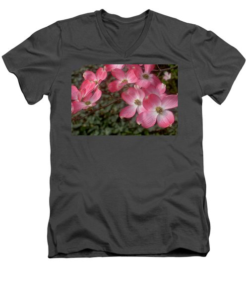 Pink Dogwood Delight Men's V-Neck T-Shirt