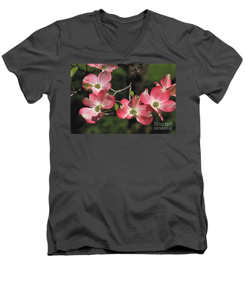 Pink Dogwood Men's V-Neck T-Shirt