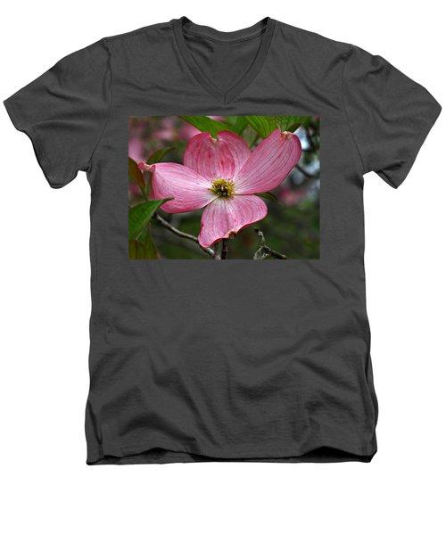 Pink Flowering Dogwood Men's V-Neck T-Shirt