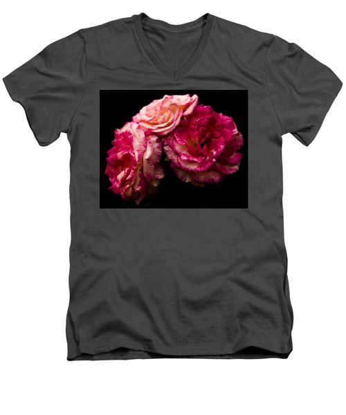 Pink Solitude Men's V-Neck T-Shirt