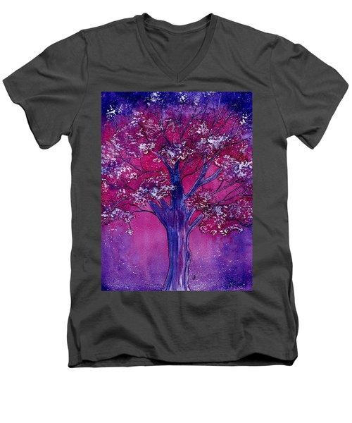 Pink Spring Awakening Men's V-Neck T-Shirt