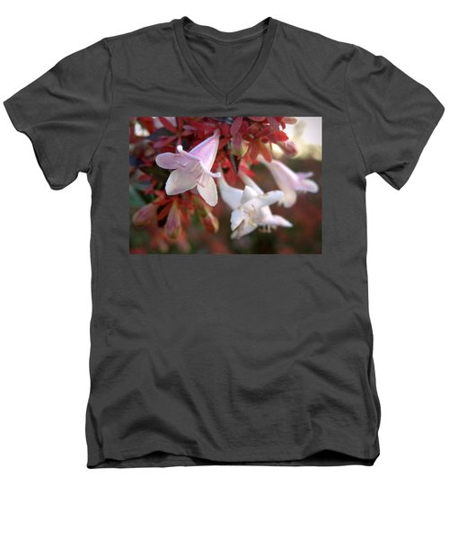 Men's V-Neck T-Shirt featuring the photograph Pinks by Joseph Skompski