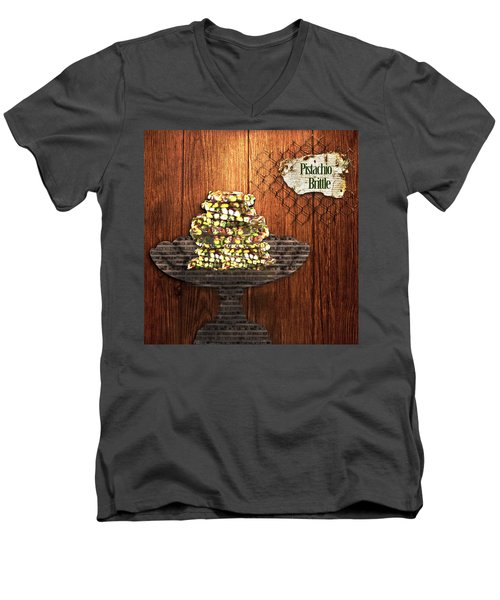 Pistachio Brittle Men's V-Neck T-Shirt
