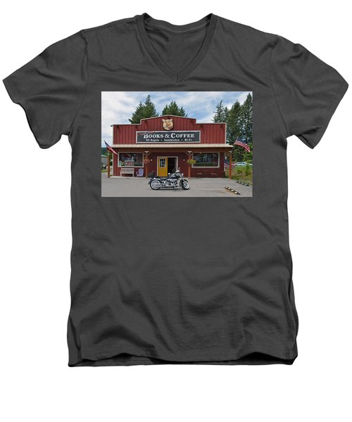Java Stop Men's V-Neck T-Shirt