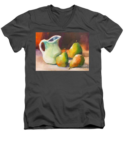Pitcher And Pears Men's V-Neck T-Shirt
