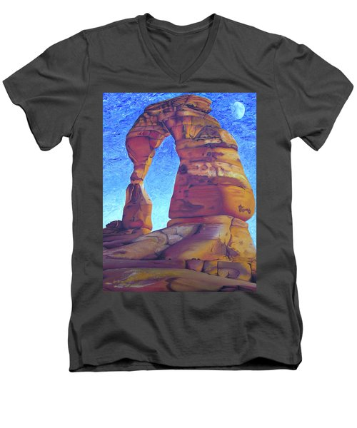 Men's V-Neck T-Shirt featuring the painting Place Of Power by Joshua Morton