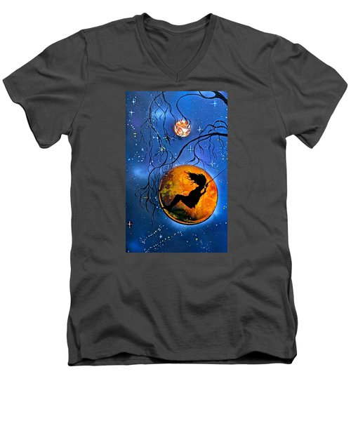 Planet Swing Men's V-Neck T-Shirt