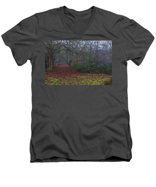 Men's V-Neck T-Shirt featuring the photograph Plantation Leaves by Maj Seda