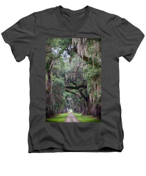 Plantation Path Men's V-Neck T-Shirt
