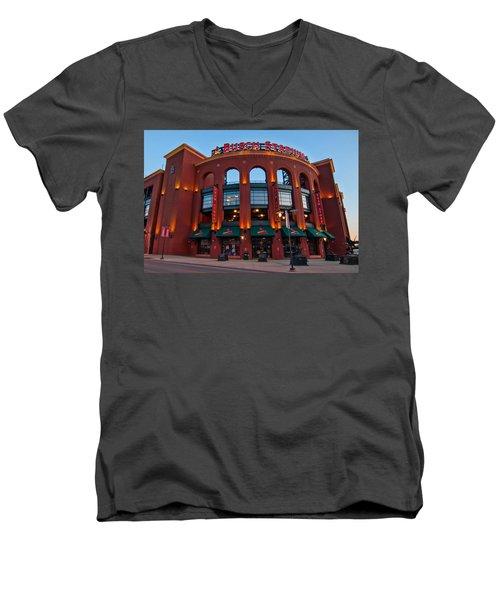 Play Ball Men's V-Neck T-Shirt by Steve Stuller