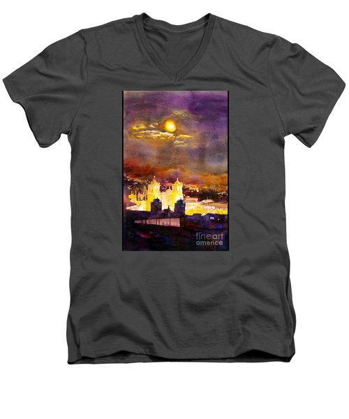 Plaza De Armas- Cusco Men's V-Neck T-Shirt