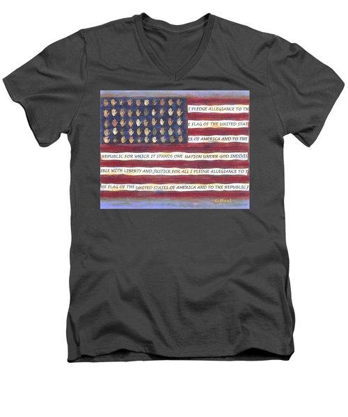 Pledge Flag Men's V-Neck T-Shirt