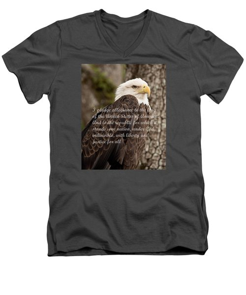 Pledge Of Allegiance Men's V-Neck T-Shirt by John Black
