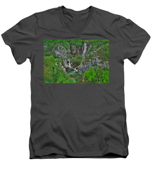 Plitvice Men's V-Neck T-Shirt